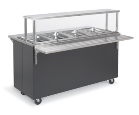 Vollrath 39937 Affordable Portable Hot Food Station, 3 Well