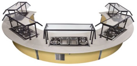 Vollrath 97221 Signature Server with Laminate or Corian Countertops