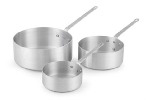 Vollrath 4020 Wear-Ever Shallow-Style Sauce Pans with Traditional Handle
