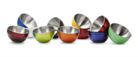 Vollrath 4659050 Round Colored Double-Wall Insulated Serving Bowls