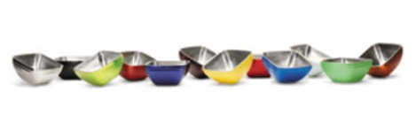 Vollrath 4763215 Square Colored Double-Wall Insulated Serving Bowls