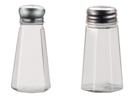 Vollrath 302-0 Traex Dripcut Paneled Polycarbonate Jar Salt & Pepper Shakers